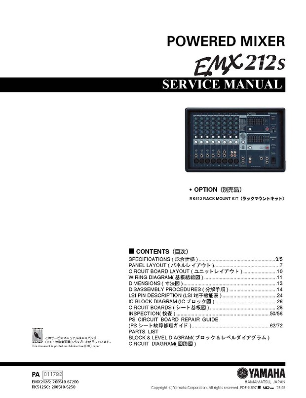 yamaha emx 620 manual