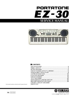 Yamaha EZ30 Service Manual