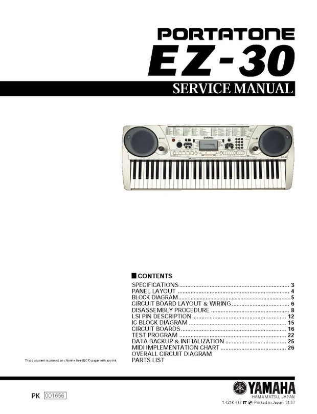 Yamaha EZ30 Service Manual
