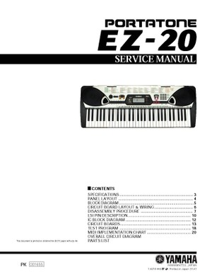 Yamaha EZ20 Service Manual