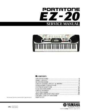 Yamaha EZ20 Service Manual