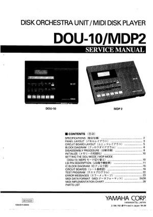 Yamaha DOU10 Service Manual