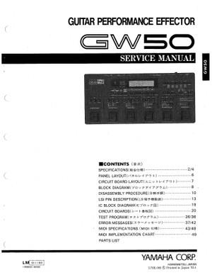 Yamaha GW50 Service Manual
