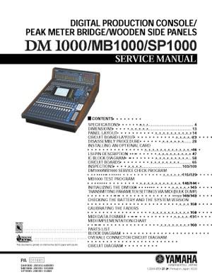 Yamaha DM1000. MB1000. SP1000 Service Manual