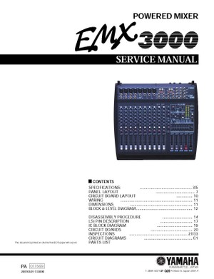 Yamaha EMX3000 Service Manual