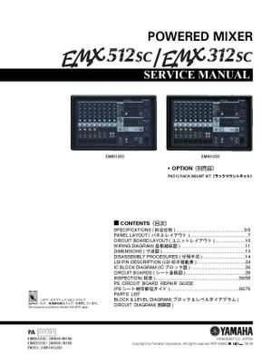 Yamaha EMX312SC EMX512SC Service Manual