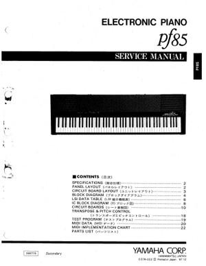 Yamaha PF85 Service Manual