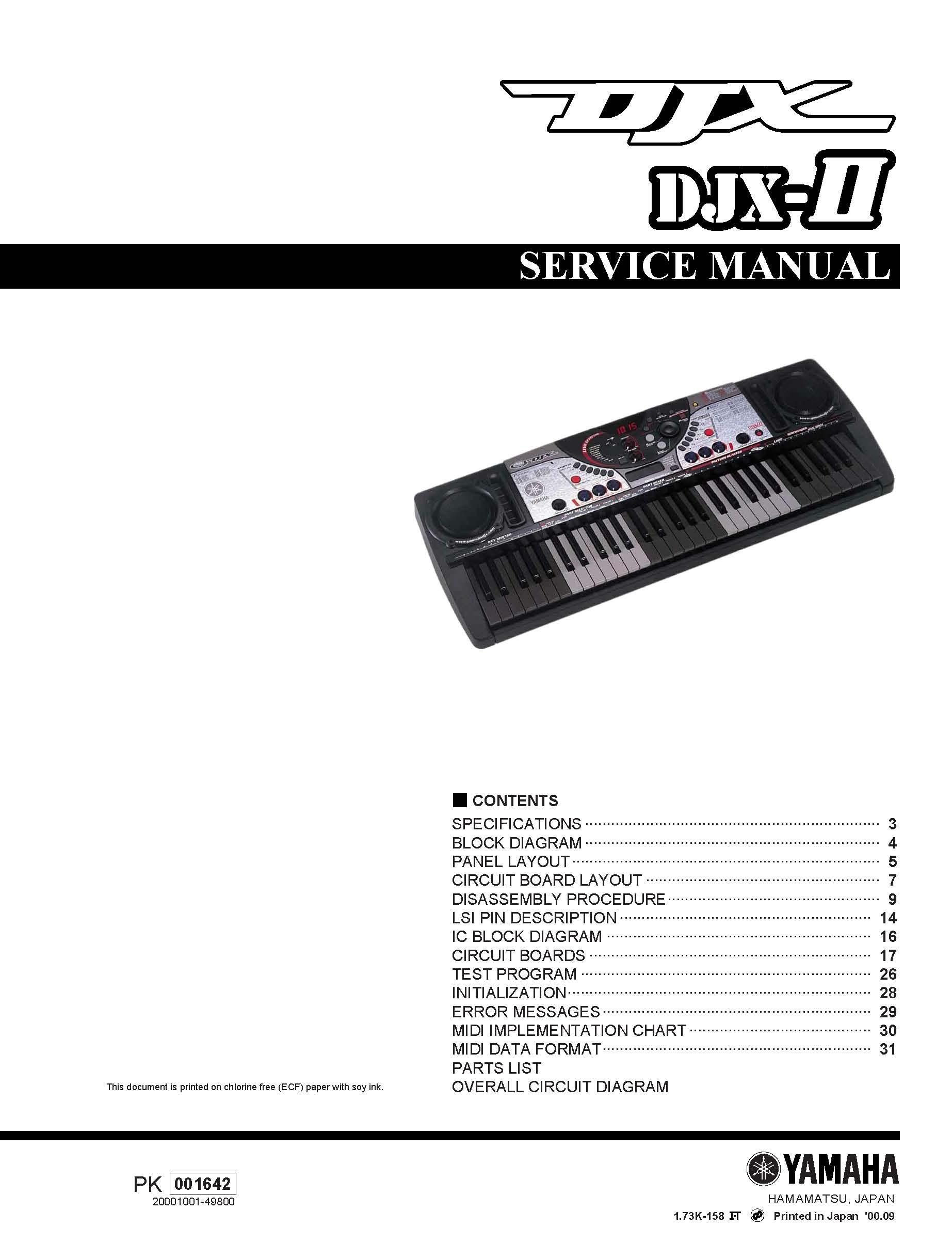 yamaha djx ii service manual music manuals rh sellfy com Yamaha DJX Minor Chords Yamaha DJX Minor Chords