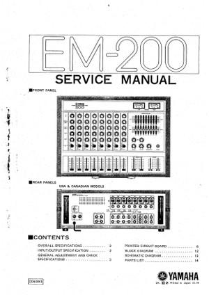 Yamaha EM200 Service Manual