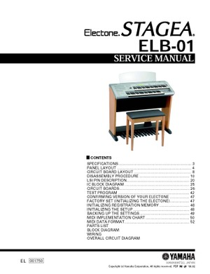 Yamaha ELB01 Service Manual