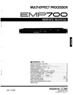 Yamaha EMP700 Service Manual
