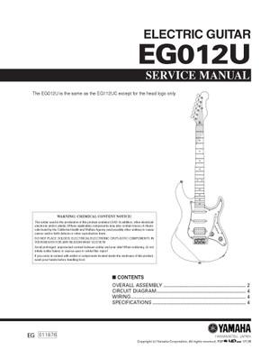 Yamaha EG012U Service Manual