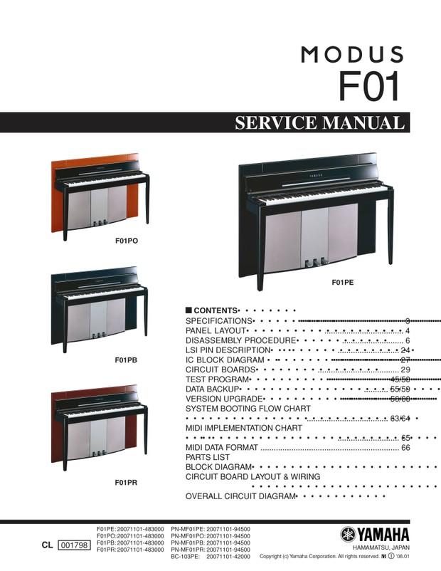 Yamaha FO1PB. FO1PE. FO1PO. FO1PR Service Manual