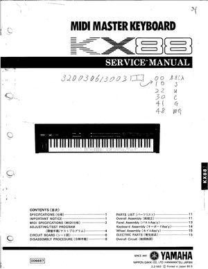 Yamaha KX88 Service Manual