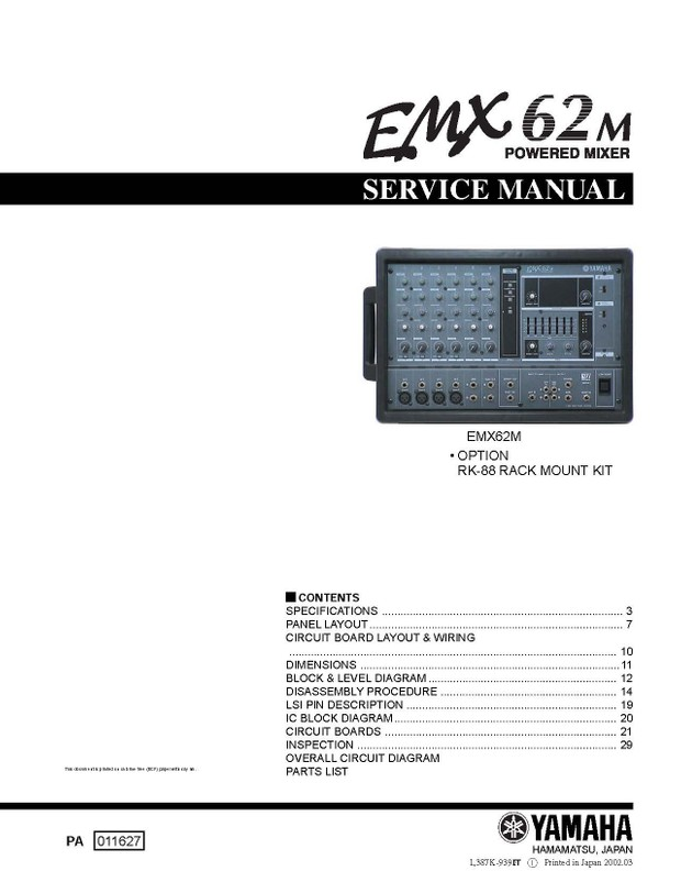 Yamaha EMX62M Service Manual