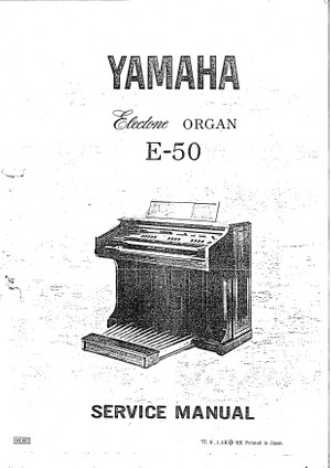 Yamaha E50 Service Manual