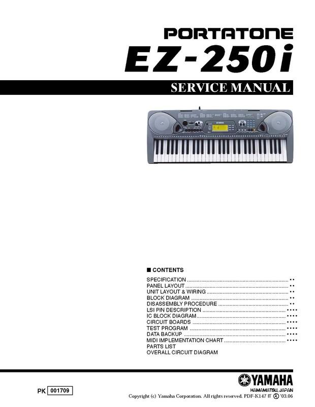 Yamaha EZ250i Service Manual
