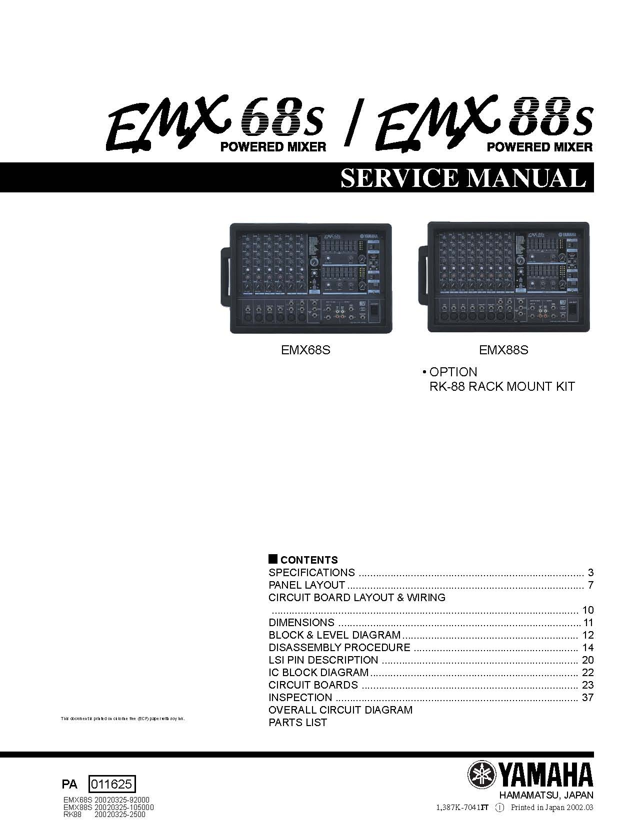 8 Array - yamaha emx640 service manual music manuals rh sellfy com