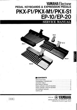 Yamaha EP10 EP20 PKXF1 PKXM1 PKXS1 Service Manual