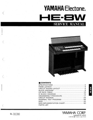 Yamaha HE8W Service Manual