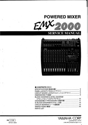 Yamaha EMX2000 Service Manual