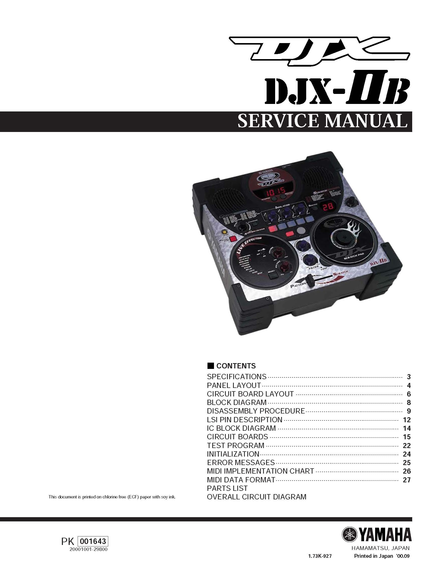 yamaha djx iib service manual music manuals rh sellfy com Yamaha DJX Minor Chords Yamaha DJX Keyboard