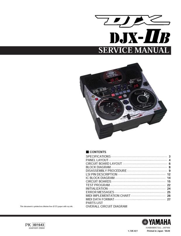 Yamaha DJX IIB Service Manual