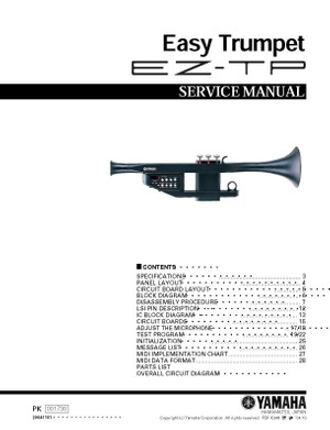 Yamaha EZTP Service Manual