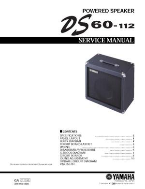 Yamaha DS60-112 Service Manual