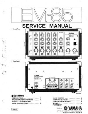 Yamaha EM85 Service Manual