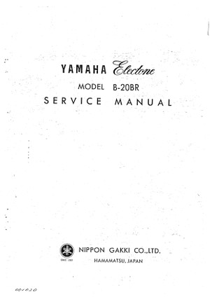Yamaha B20BR Service Manual