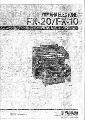 Yamaha FX10 FX20 Service Manual