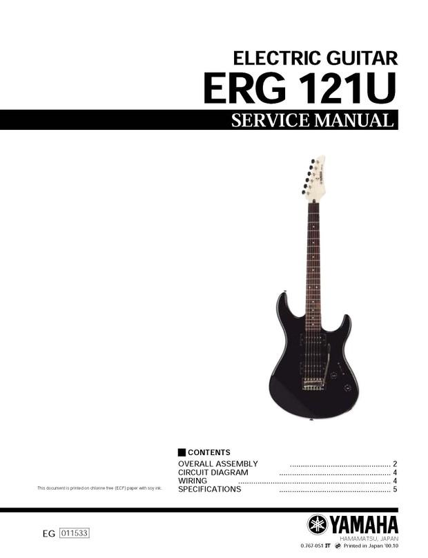 Yamaha ERG121U Service Manual