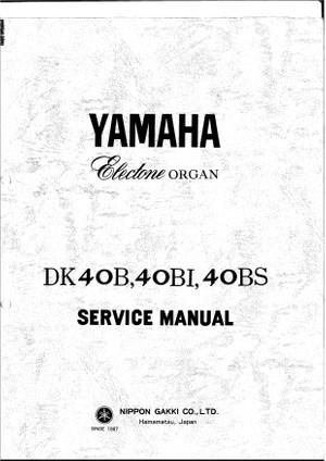 Yamaha DK40B DK40CI. DK40CS Service Manual