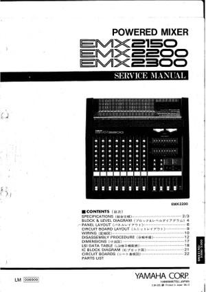 Yamaha EMX2150. EMX2200. EMX2300. Service Manual