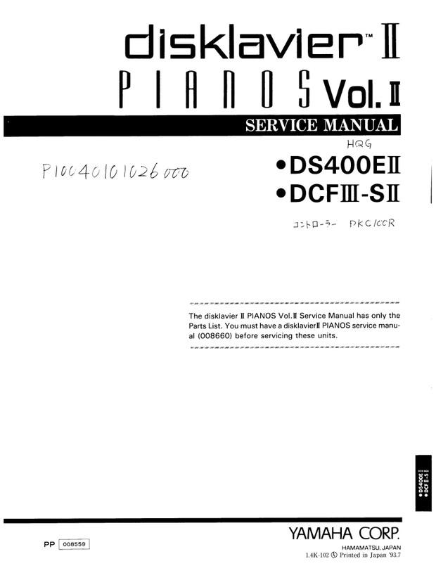 Yamaha DS400E II. DCF III-SII. Service Manual