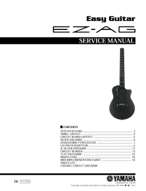Yamaha EZ-AG Service Manual
