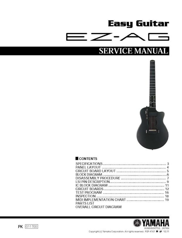 Yamaha EZ-AG Service Manual