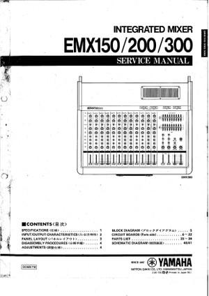 Yamaha EMX150 EMX200 EMX300 Service Manual