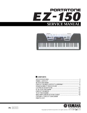 Yamaha EZ150 Service Manual