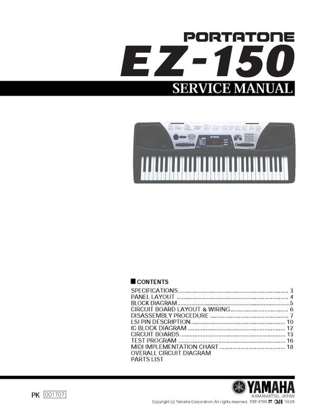 Yamaha EZ150 Service Manual