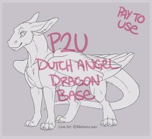 Dutch Angel Dragon Feral Line Art