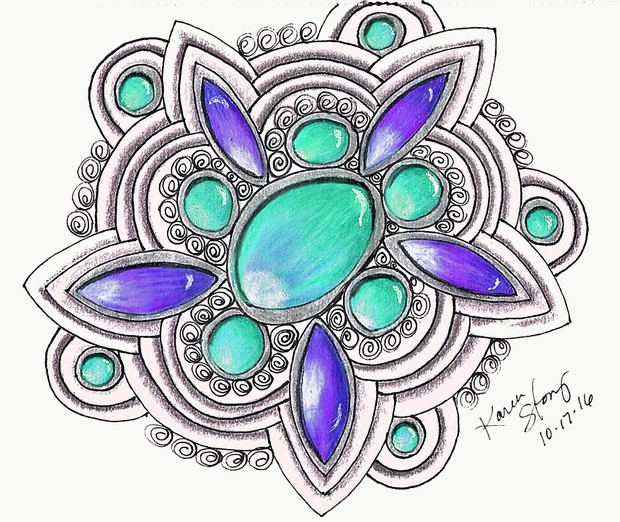 Teal and Purple Gems