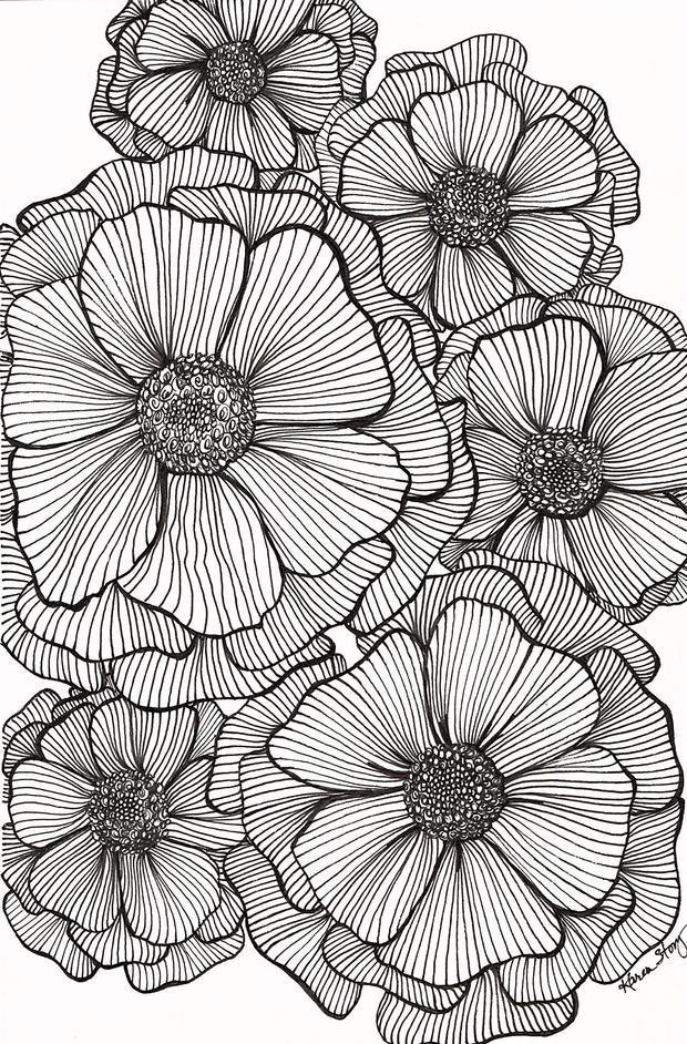 Blackline Flowers