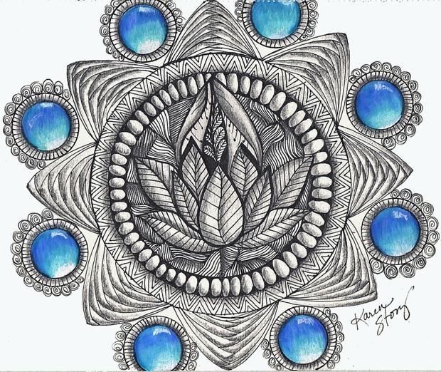 Gem Mandala w/ Lotus Flower