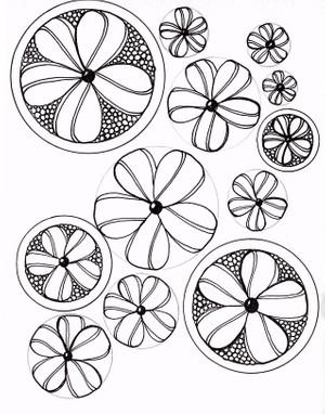Ribbon Flower Card 4x5