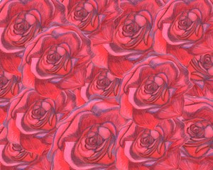 Repeated Rose Background