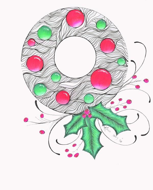 Christmas Wreath with Bulbs