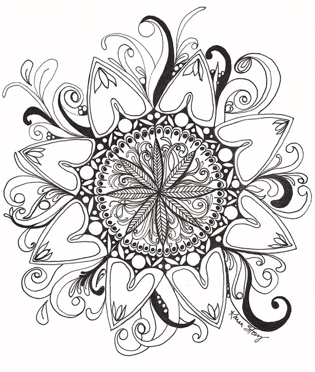 Swirl Mandala Coloring Page