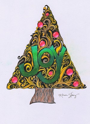 Colored Joy Christmas Tree